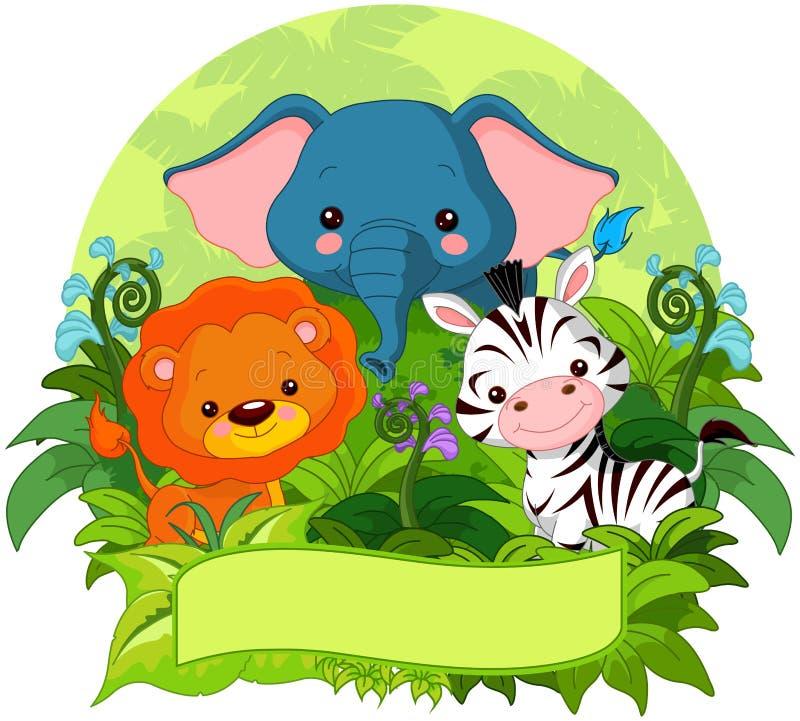 Animali della giungla illustrazione vettoriale