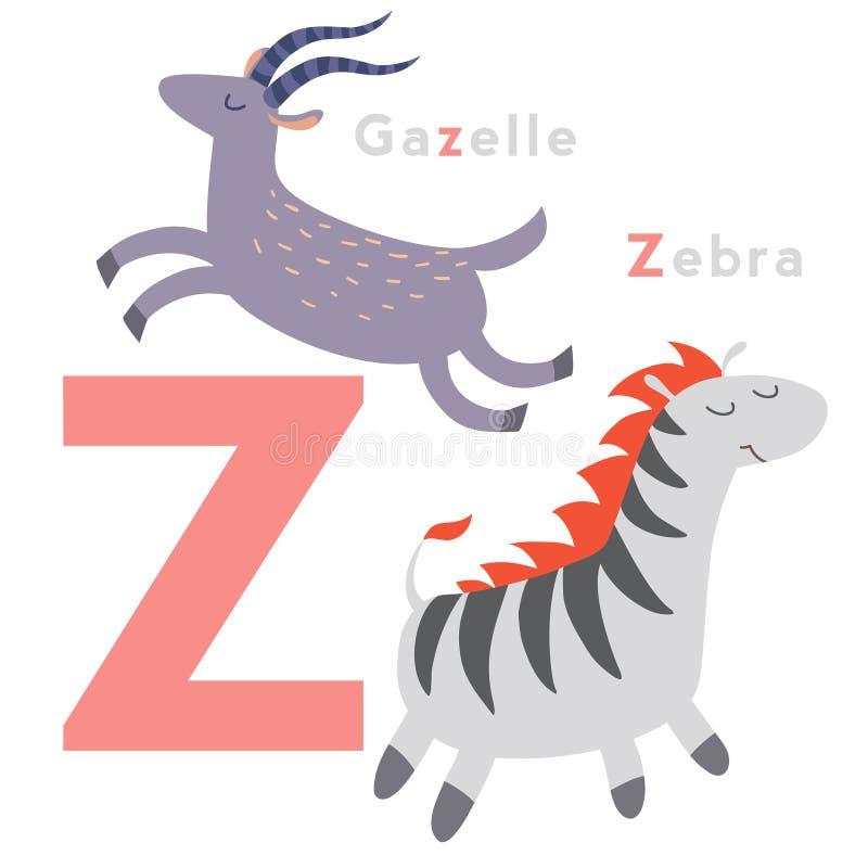 Animali della lettera di C messi Alfabeto inglese Illustrazione di vettore illustrazione di stock