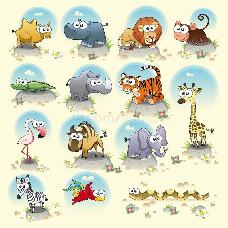 Animali della savanna. royalty illustrazione gratis
