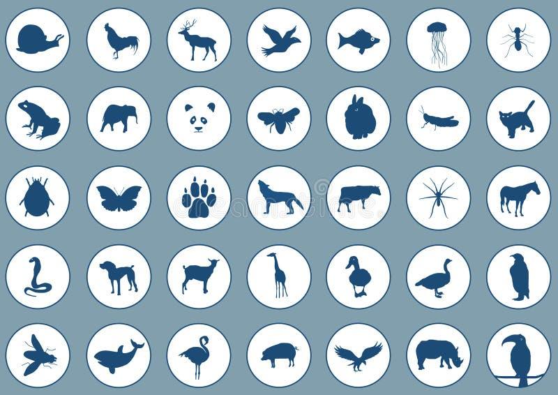 Animali delle icone illustrazione vettoriale