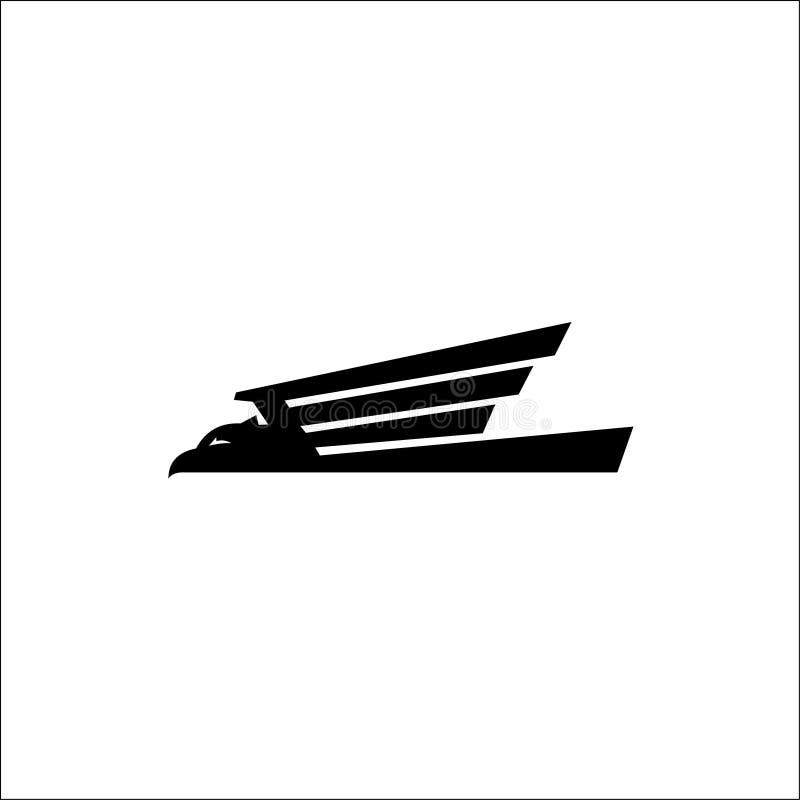 Animali di vettore di Eagle Logo, falco nero illustrazione vettoriale
