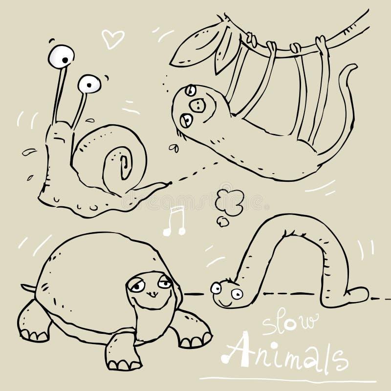 Animali divertenti illustrazione di stock