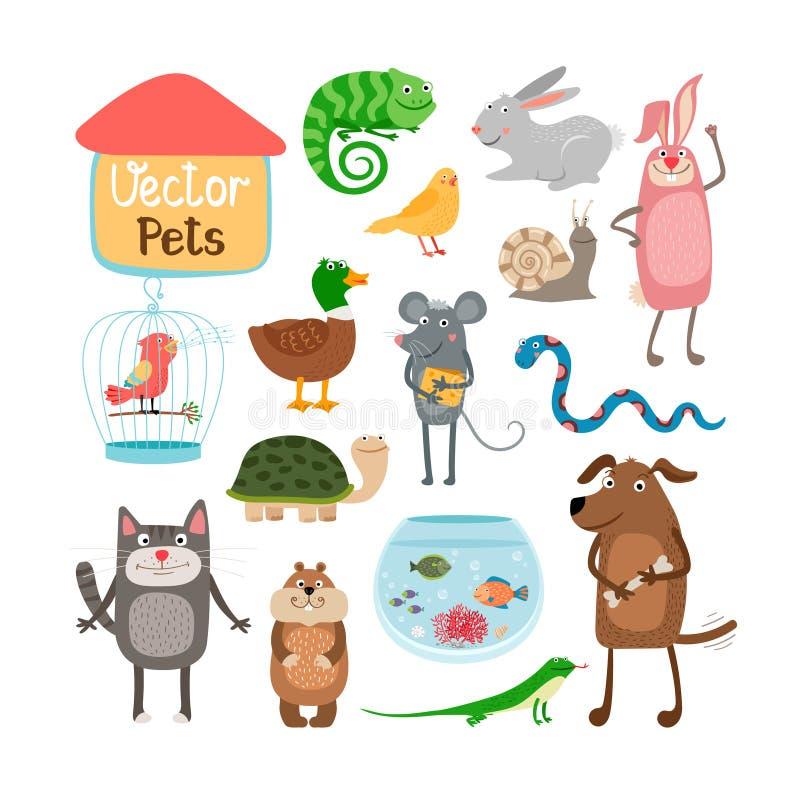Animali domestici di vettore illustrazione di stock