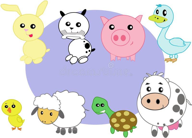 Animali domestici stilizzati illustrazione di stock
