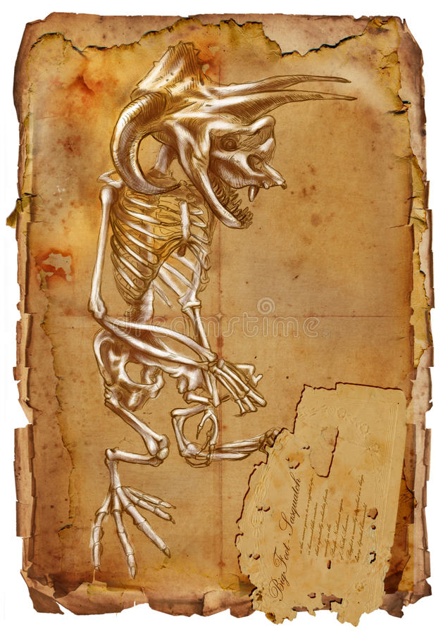 Animali e mostri leggendari: BIGFOOT royalty illustrazione gratis