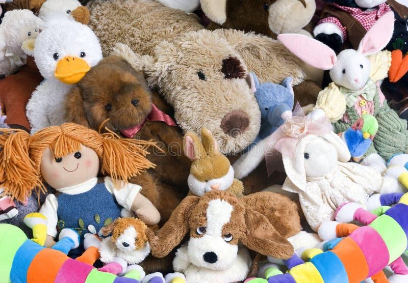 Animali farciti immagine stock