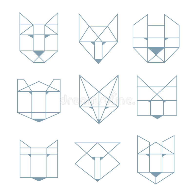 Animali geometrici royalty illustrazione gratis