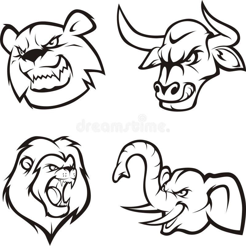 Animali pazzi illustrazione di stock