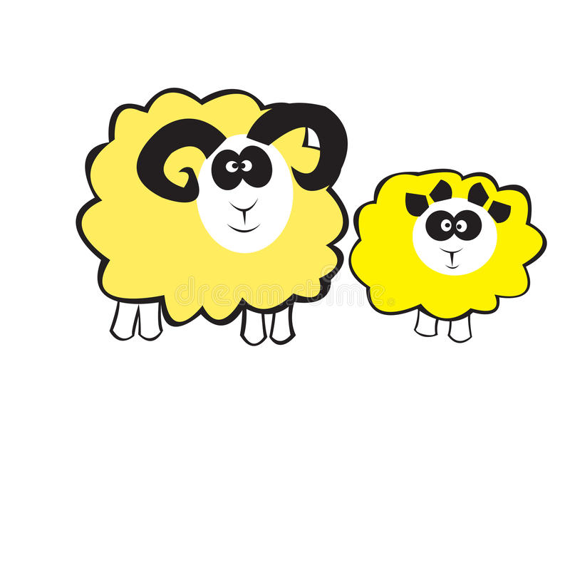 Animali, pecore royalty illustrazione gratis