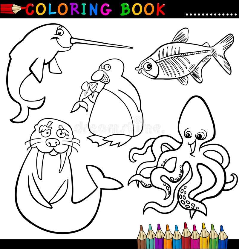Download Animali Per Il Libro O La Pagina Di Coloritura Illustrazione Vettoriale - Illustrazione di coloring, umore: 26423013