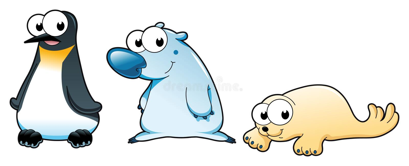 Animali polari royalty illustrazione gratis