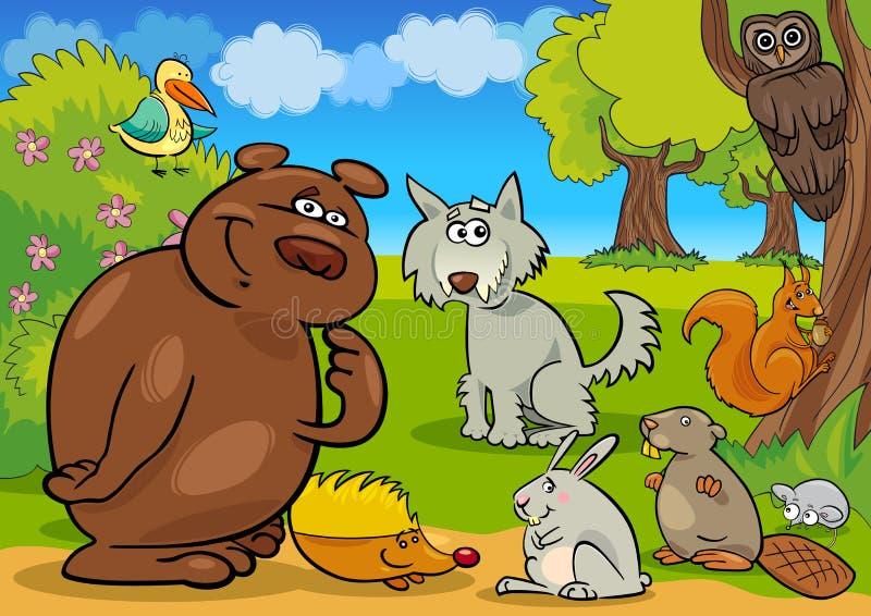 Animali selvaggi della foresta illustrazione di stock