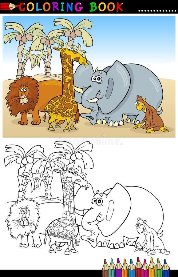 Animali selvaggi di safari per coloritura royalty illustrazione gratis