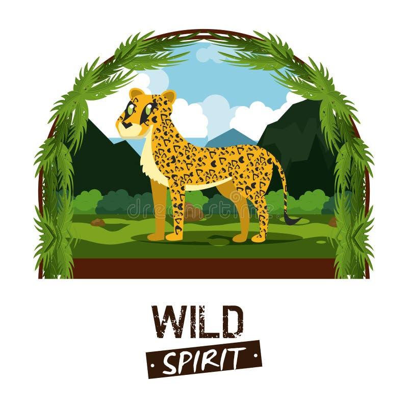 Animali selvaggi di spirito royalty illustrazione gratis