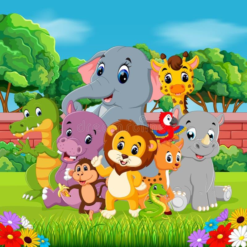 Animali selvatici nella foresta royalty illustrazione gratis