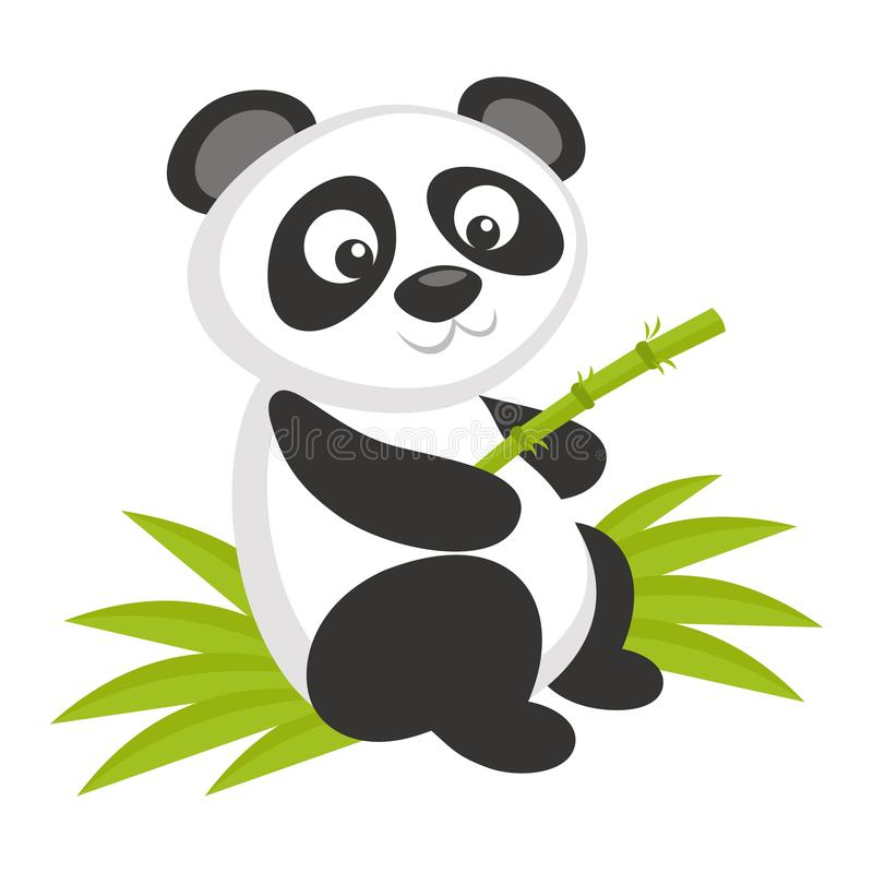Animali selvatici Panda Bear Wildlife Vector illustrazione di stock