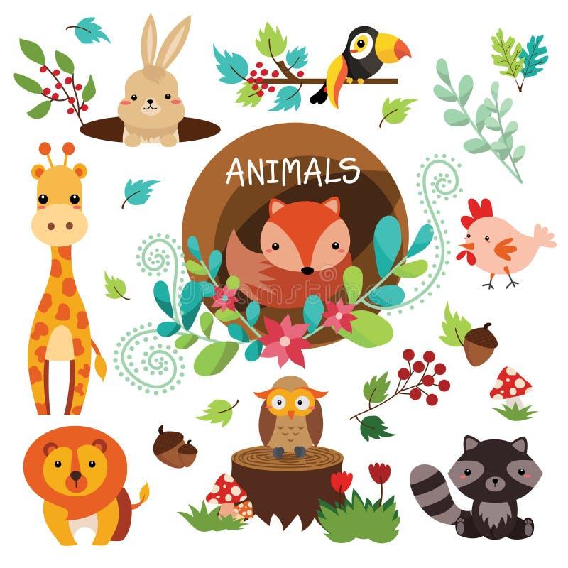 2018-07-02 Animals1 ilustração do vetor