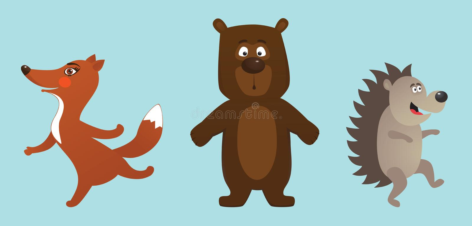 Download Animals stock vector. Image of ears, clumsy, young, surprised - 12984598