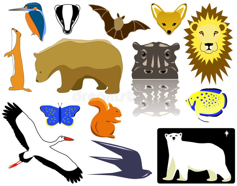 Download Animals stock vector. Image of face, graphic, selection - 2194994