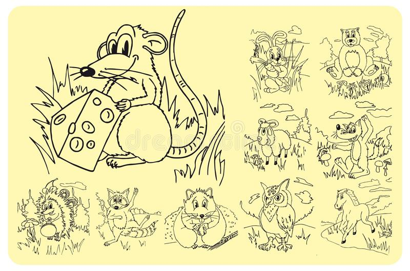 Download Animals stock illustration. Image of hamster, mouse, bear - 25325415