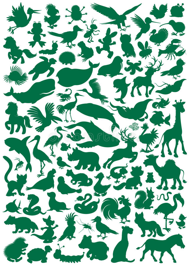 Download Animals stock vector. Image of hare, lizard, drawing - 31757278