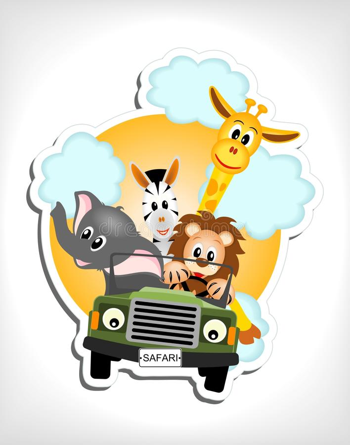 Download Animals in car stock vector. Image of baby, merry, cabriolet - 24631825