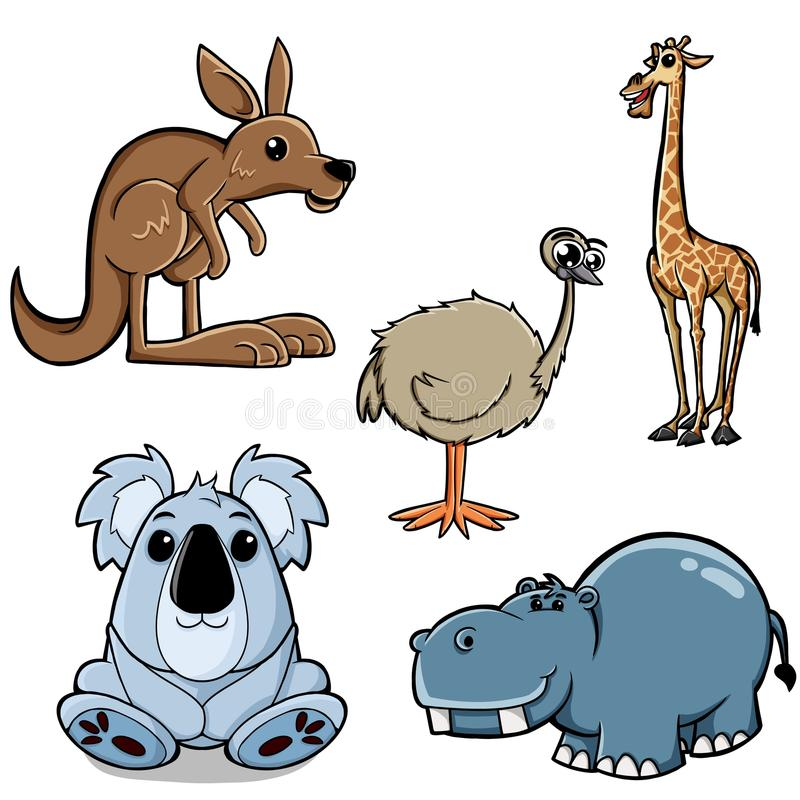 Animals collection stock image