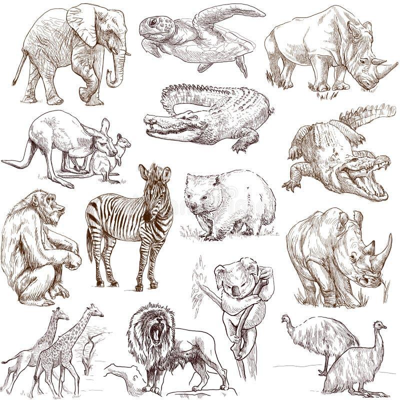Animals 2 stock illustration