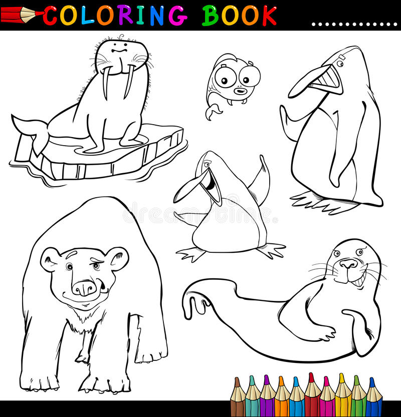 Download Animals For Coloring Book Or Page Stock Vector - Illustration: 26422943