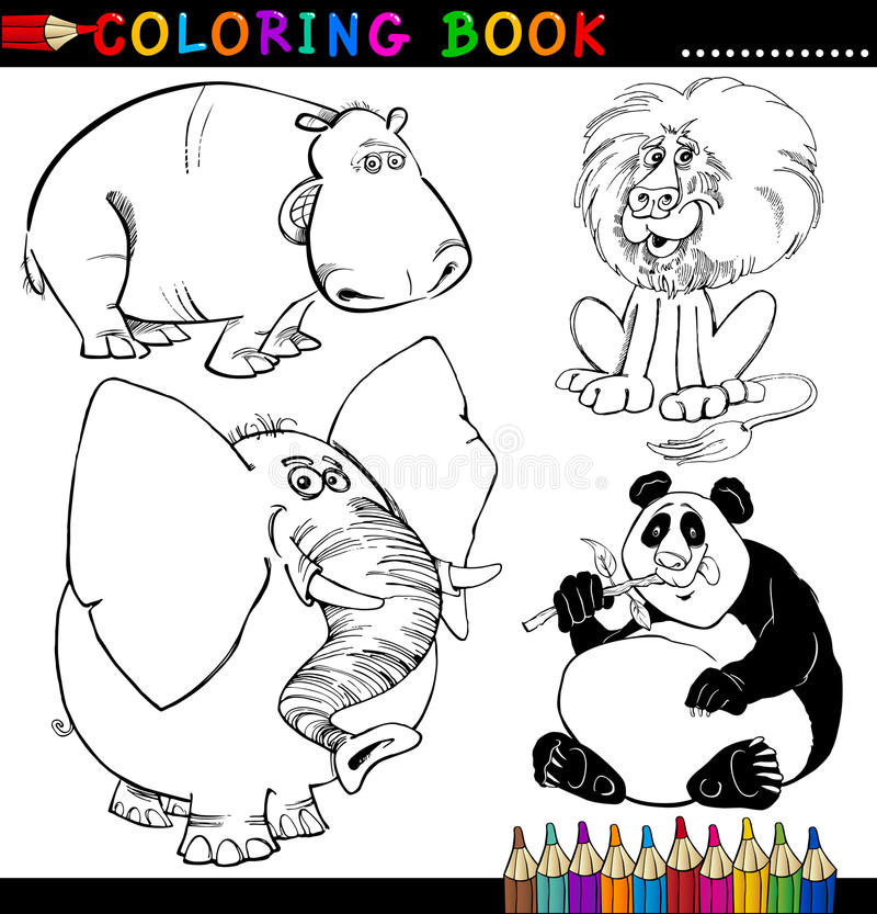 Download Animals For Coloring Book Or Page Stock Vector - Illustration of cartoon, graphic: 26423025