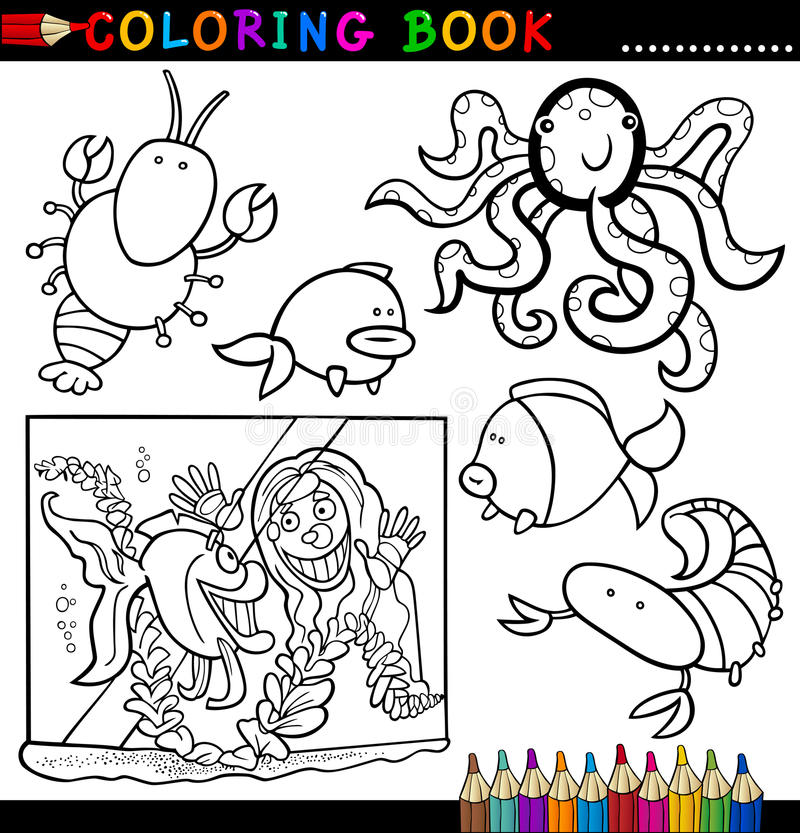 Download Animals For Coloring Book Or Page Stock Vector - Illustration: 26423120