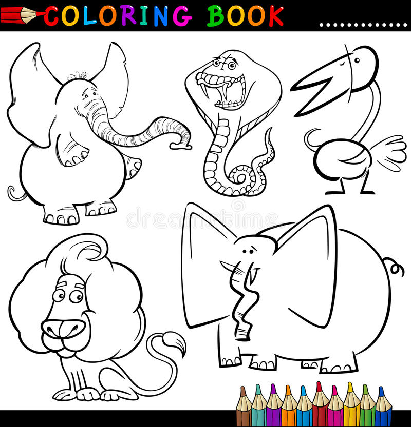 Download Animals For Coloring Book Or Page Stock Vector - Image: 26423133