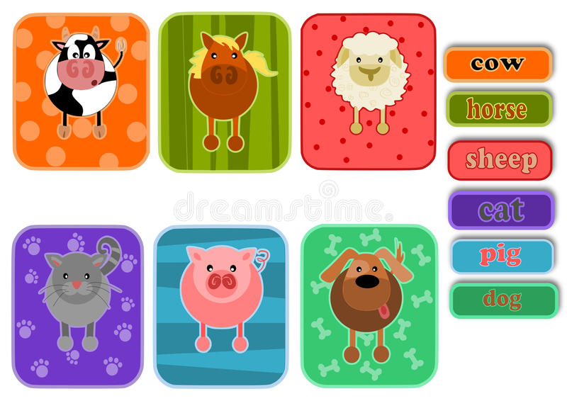 Download Animals from farm stock vector. Illustration of comic - 27758223