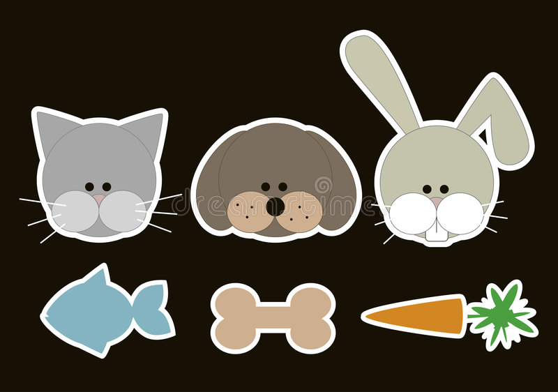 Animals food stock illustration