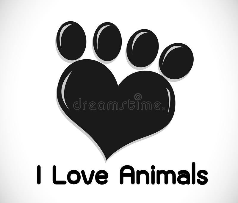 Animals Foot paw prints vector illustration