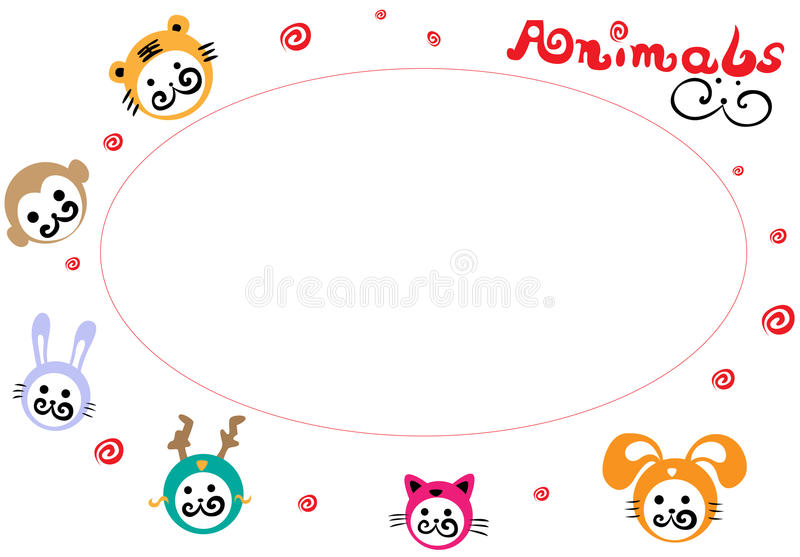 Animals Heads Background Stock Images