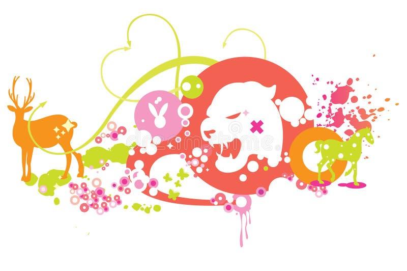 Download Animals illustration stock vector. Image of design, bright - 10828297