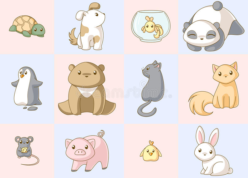 Download Animals Kawaii Set Royalty Free Stock Images - Image: 13609949