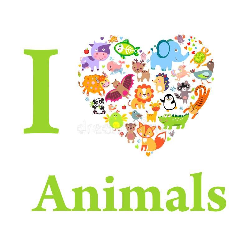 Animals Love vector illustration