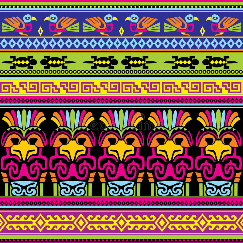 Animals mexican background stock illustration