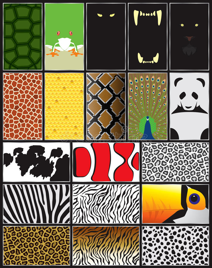 Download Animals patterns and forms stock vector. Image of mouth - 22607077
