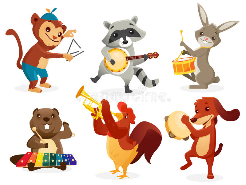 Download Animals Playing Instruments Stock Illustration - Illustration of cheerful, music: 27230570