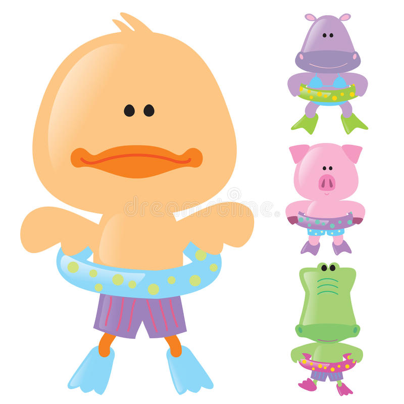 Free Animals Ready For Summer Stock Image - 9945791