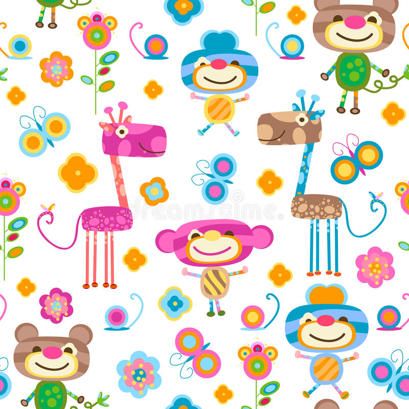 Download Animals Seamless Background Stock Vector - Illustration of illustration, friends: 23506455