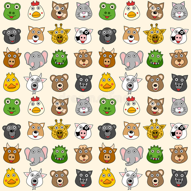 Free Animals Seamless Pattern [1] Stock Images - 25642864