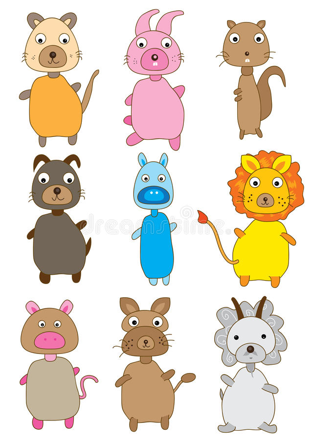Animals Sets_eps stock illustration