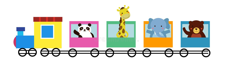 Animal train stock vector. Illustration of pattern, bunny ...