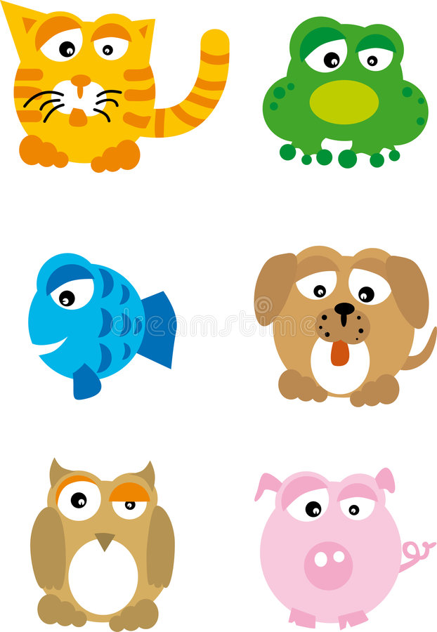 Animals (vector) royalty free illustration