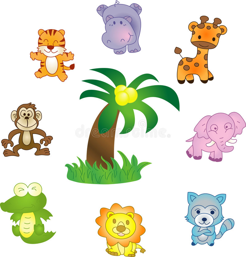 Download Animals vector icons set stock vector. Image of colorful - 7009573