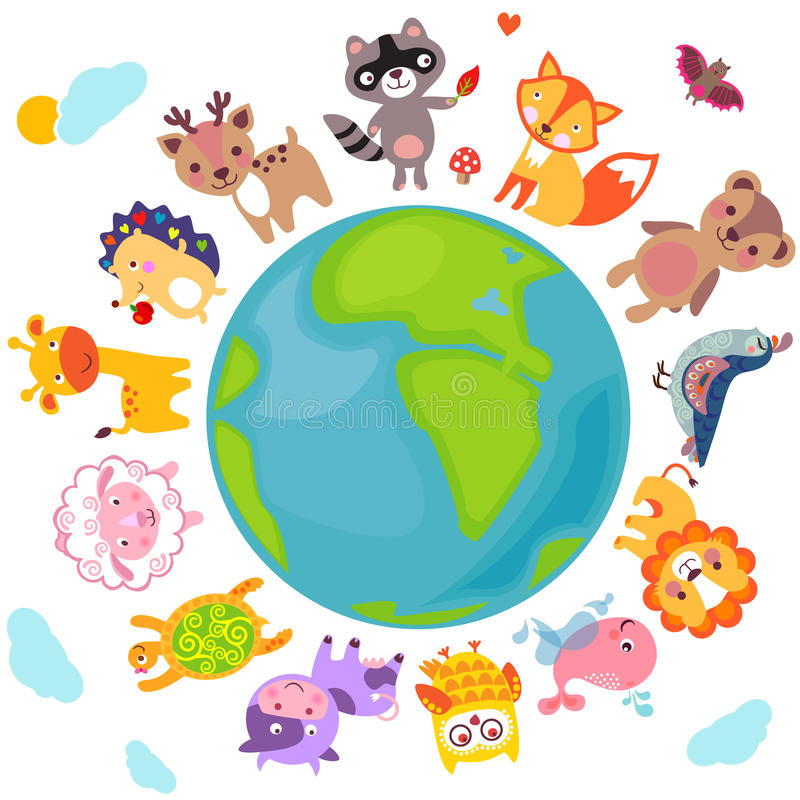 Animals World vector illustration